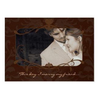Foto-Hochzeit laden mich heiraten meine Karte