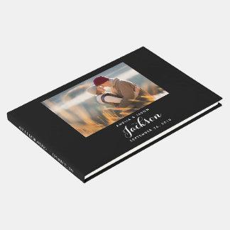 Foto-Hochzeits-Gast-Buch, Schwarzweiss Gästebuch