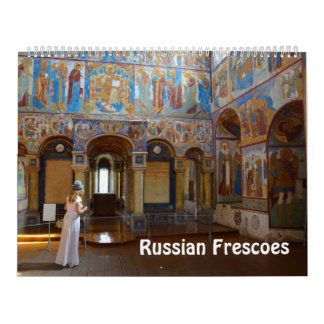 Foto-Kalender 12 Freskos des Monats russischer Kalender