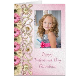Foto-Karte des Valentines Tagesfür Großmutter Grußkarte