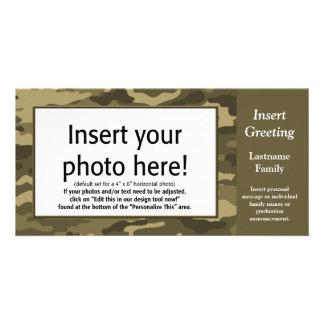 Foto-Karte - TAN-Camouflage (Feiertag, Familie, Karte