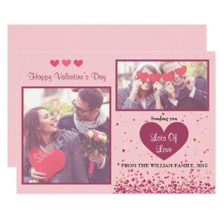 Foto-Karten des Valentines Tages 12,7 X 17,8 Cm Einladungskarte