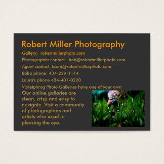 Foto Kims Raff von mir, Fotografie Roberts Miller… Jumbo-Visitenkarten