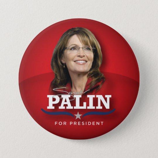 Foto-Knopf Sarahs Palin Runder Button 7,6 Cm