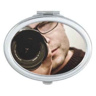 Foto OP - runder kompakter Spiegel Taschenspiegel