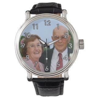 FOTO personalisierte Uhren für Männer, Frauen,