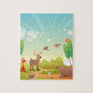 Foto-Puzzlespiel der Kind8x10 mit Geschenkboxen