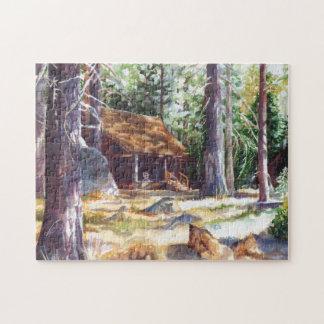 Foto-Puzzlespiel Lake- Tahoekabinen-11x14 mit