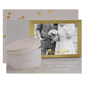 Foto-Rahmen-Imitat-Goldfolien-Hochzeit danken 12,7 X 17,8 Cm Einladungskarte