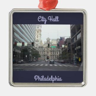 Foto Rathauses Philadelphia Silbernes Ornament