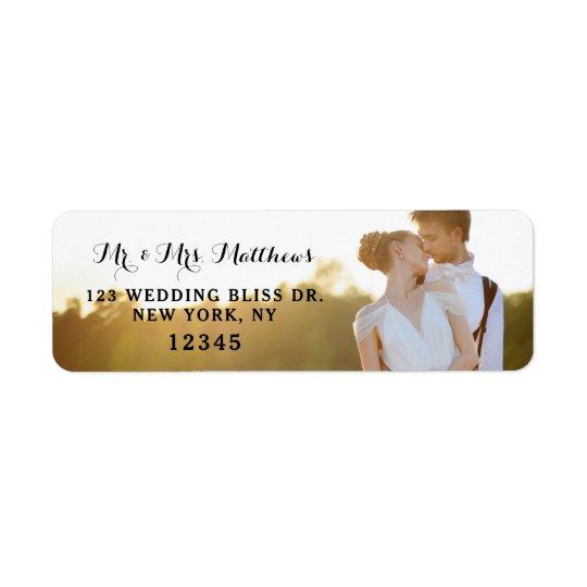 Foto-Rücksendeadressen-Aufkleber| Wedding