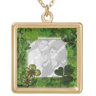 Foto-St Patrick Tageshalskette Vergoldete Kette