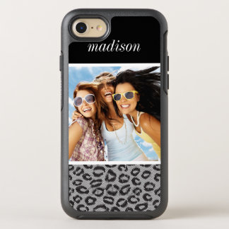 Foto- u. Namenspitze mit Leopardmuster OtterBox Symmetry iPhone 8/7 Hülle