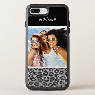 Foto- u. Namenspitze mit Leopardmuster OtterBox Symmetry iPhone 8 Plus/7 Plus Hülle