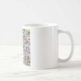 Fotocollage mit vielen Bildern Tasse