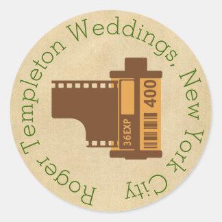 Fotograf-Film-Logo besonders angefertigt Runder Sticker