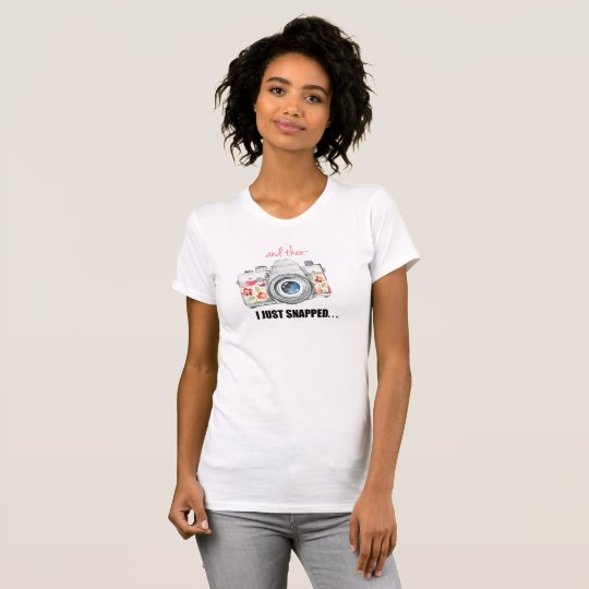 Fotograf gerade gerissen T-Shirt