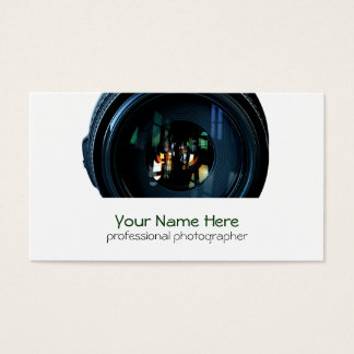 Fotograf-Kameraobjektiv-Visitenkarten Visitenkarte