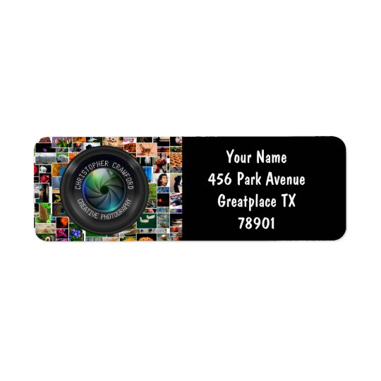 Fotograf und Fotografie-Geschäfts-Kameraobjektiv Rücksende Aufkleber