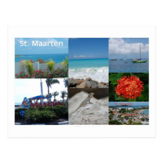 Fotografie-Collage St. Maarten-Sint Martin Postkarte