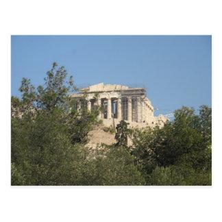 Fotografie der altgriechischen Parthenon-Ruinen Postkarte