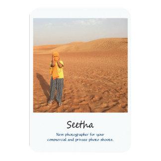 Fotografie Promokarte 8,9 X 12,7 Cm Einladungskarte