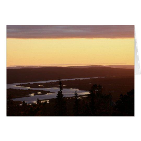 Fotokarte Abendstimmung am Kemijoki Karte