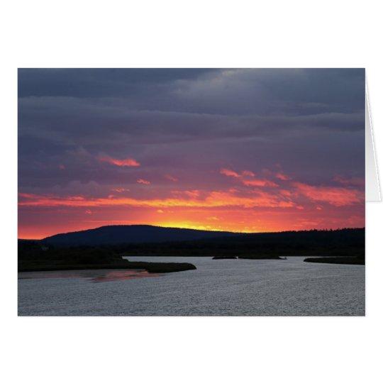 Fotokarte Abendstimmung am Ounasjoki Karte