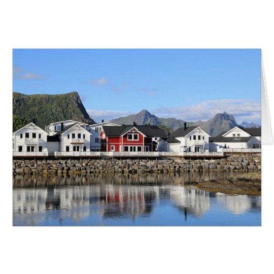 Fotokarte Häuser in Kabelvåg Karte
