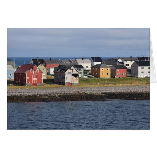 Fotokarte Häuser in Vardø Karte