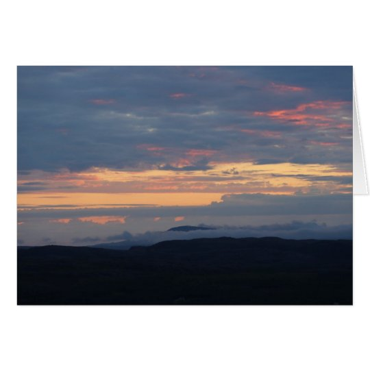 Fotokarte Mitternacht an der Barentsee Karte