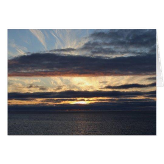 Fotokarte Mitternachtssonne an der Barentsee Karte