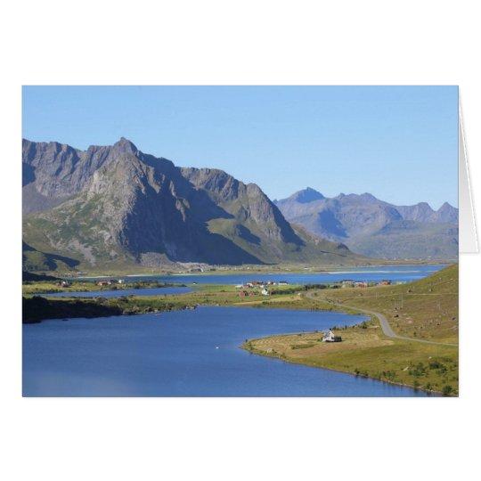 Fotokarte Moskenesoya, Lofoten, Norwegen Karte