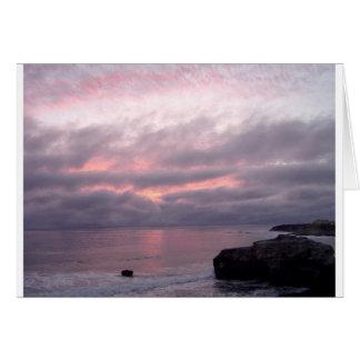 Fotokarte Santa Cruz Kalifornien, rosa Karte