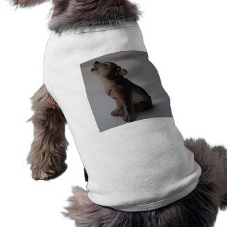 Fotos auf lager087wolf ärmelfreies Hunde-Shirt