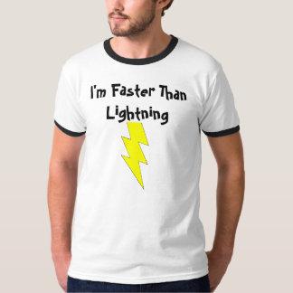 foudre-boulon, je suis plus rapide que la foudre t shirts
