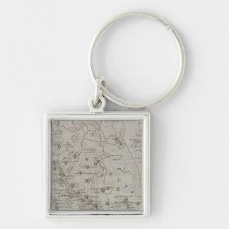 Foueh, Damanhour, Ägypten Silberfarbener Quadratischer Schlüsselanhänger