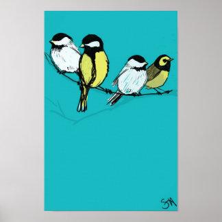 Fourcallingvögel Poster