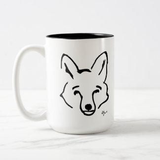 Fox - Adolf Lorenzo Zweifarbige Tasse