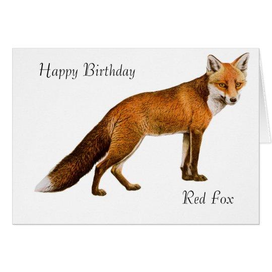Fox-Bild für Geburtstag-Gruß - Karte