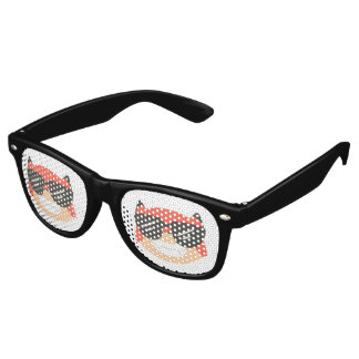 Fox en verres de lunettes de soleil