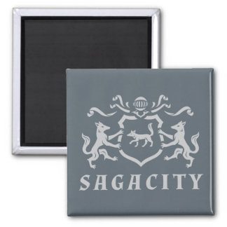 Fox gris de Sagacity Magnet Carré