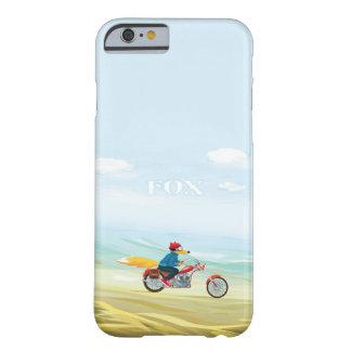 Fox-Man auf einem roten Motorrad Barely There iPhone 6 Hülle