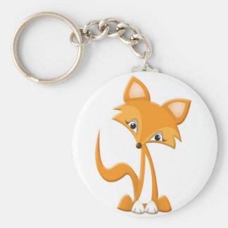 Fox mignon de bande dessinée porte-clefs