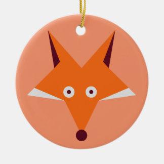 Fox-Stern Rundes Keramik Ornament