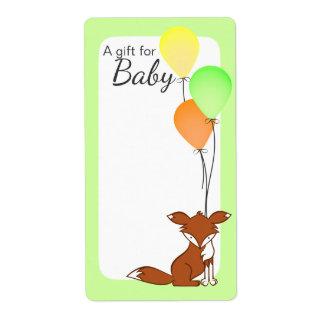 Fox- und Ballon-Baby-Buch-Umbau-Grün