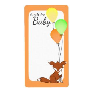 Fox- und Ballon-Baby-Buch-Umbauten orange