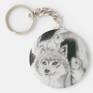 Fox und die Eichhörnchen Schlüsselanhänger