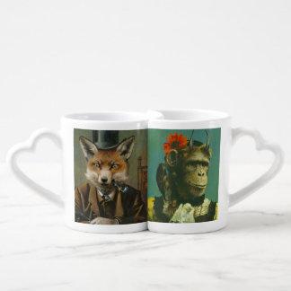 Fox und Schimpanse-Liebhaber-Tassen Liebestassen