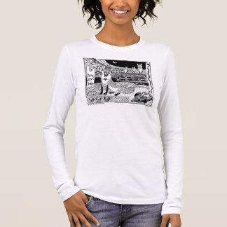 Fox wagt Block-Druck-Kunst-T - Shirt